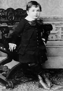 Pure perception: Albert Einstein at the age of three.